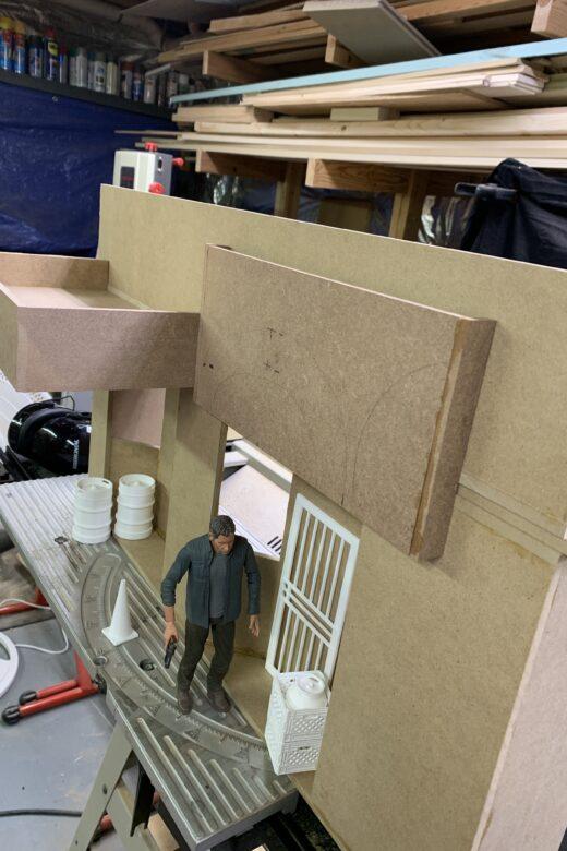 diorama building using MDF instead of insulation board