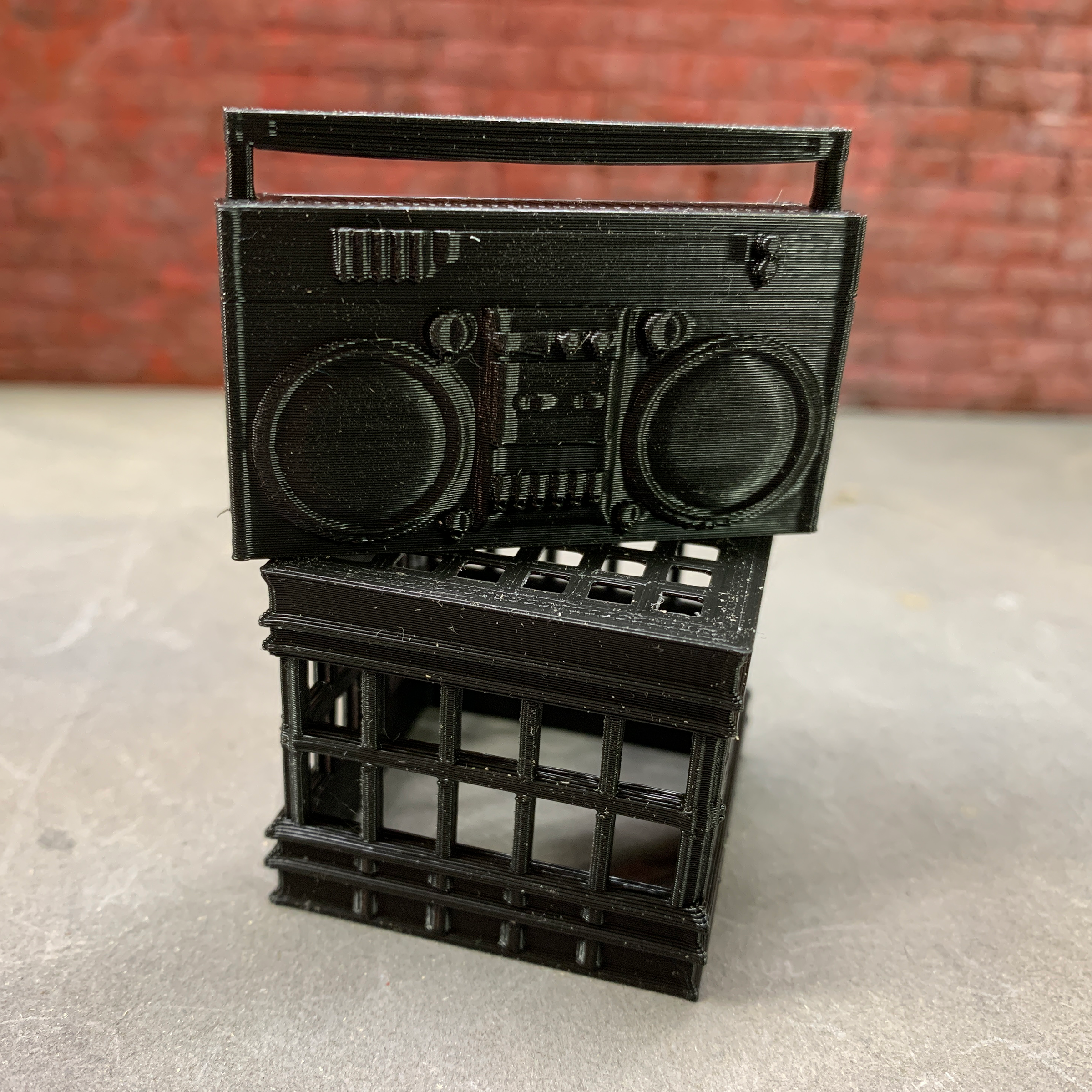 3d printed boombox for action figures
