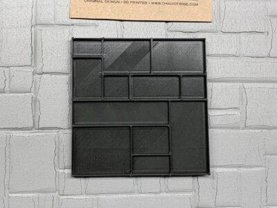 Stone wall press for styrofoam insulation board