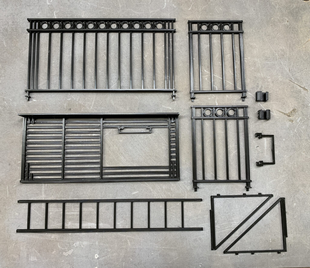 3D Printed Fire Escape for action figure dioramas