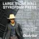 Stone wall press for building styrofoam dioramas