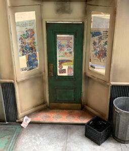 Diorama storefront door