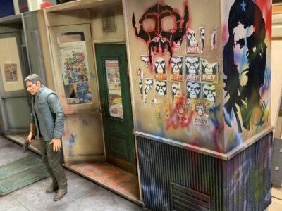 Adding graffiti to the diorama