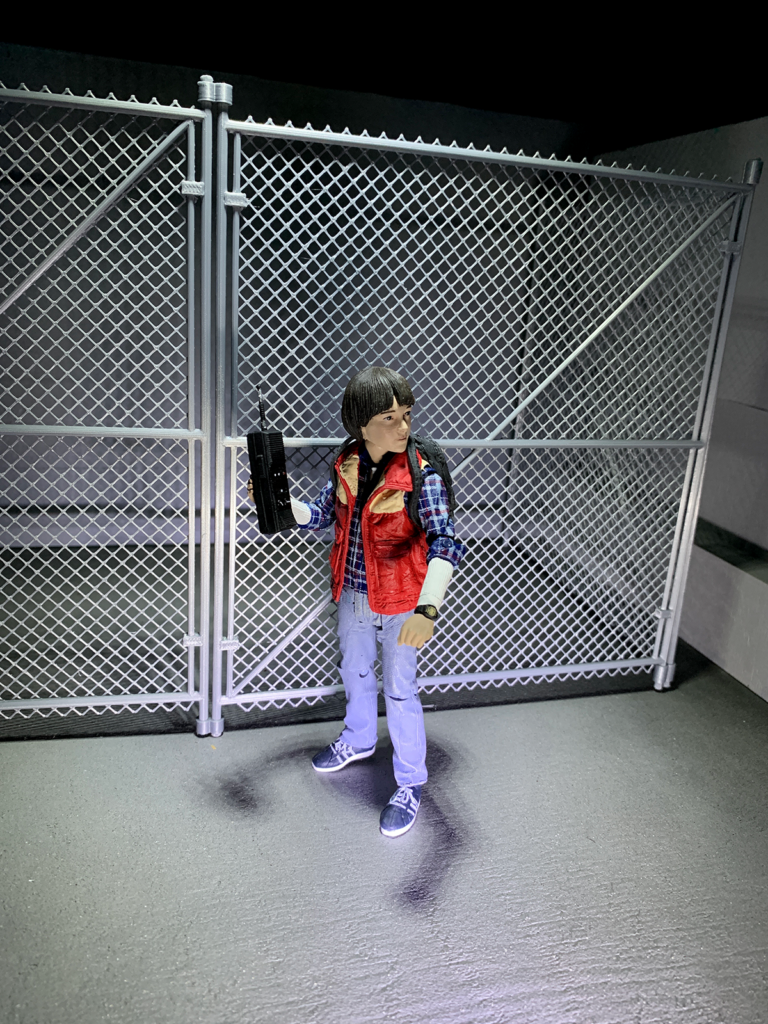 action figure chainlink fence accessory